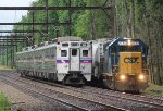 CSX GP38-2 #2782 on C770-01 and SPAX Silverliner IV #430