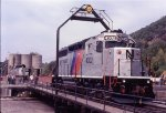 NJT 4302 on the Port Jervis turntable