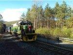 Meeting the regular Lehigh Gorge tourist train