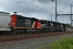 CN 5291, NS 1033 trail on K497-23