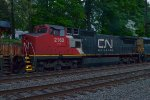 CN C40-8W 2162 trails on Q410-05