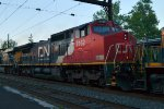 CN C40-8W 2162 trails on Q410-11