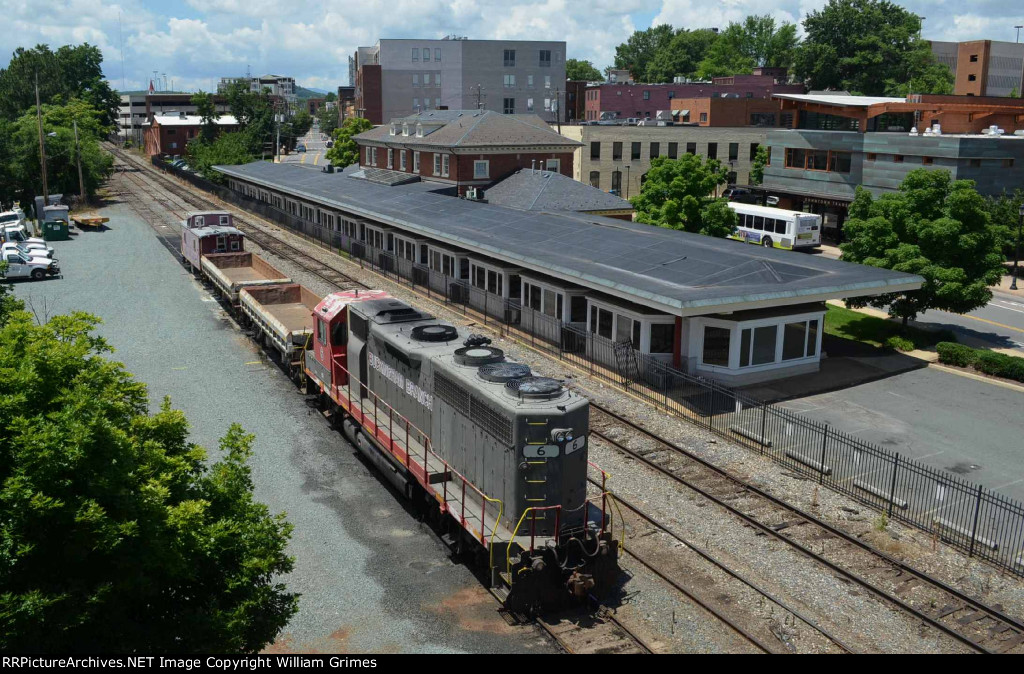 C&O Station and work train for the Orange Branch
