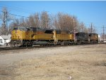 Union Pacific SD90 no. 8168, SD70M no. 4591, (ex Southern Pacific AC44C) no. 6273 and AC44CW no. 7152