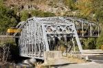 UP 7503 crossing bridge at Tobin