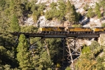 UP 7503 & 4689 & 8617 on Rock Creek Trestle