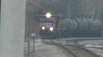 NS 393 coming around the curve into CP Eutaw