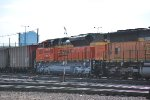 BNSF 9004 heads northbound as a #2 unit on empty coal train.