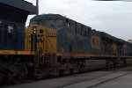CSX ES40DC 5434 trails on 078