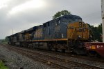CSX ES40DC 5460 trails on 078
