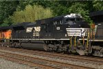 NS SD70ACe 1011 trails on K041-11