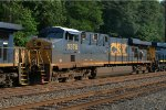 CSX ES40DC 5378 trails on Q034-24