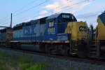CSX GP38-2 6151 trails on Q409-29