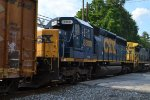 CSX SD40-2 8808 trails third out on Q410-13