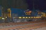 CSX MP15T 1237 trails on Q438-19