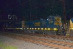 CSX MP15T 1237 and CSX SD50-2 8519 on Q438-19