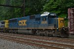 CSX SD50-3 8658 trails second out on Q418-13