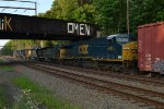 CSX AC60CW 610 as the sixth unit on Q438-24