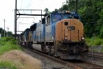 CSX SD70AC 4763 leads Q438-26