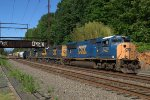 CSX SD70AC 4729 leads Q439-03