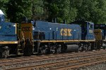 CSX MP15AC 1156 trails on Q439-03