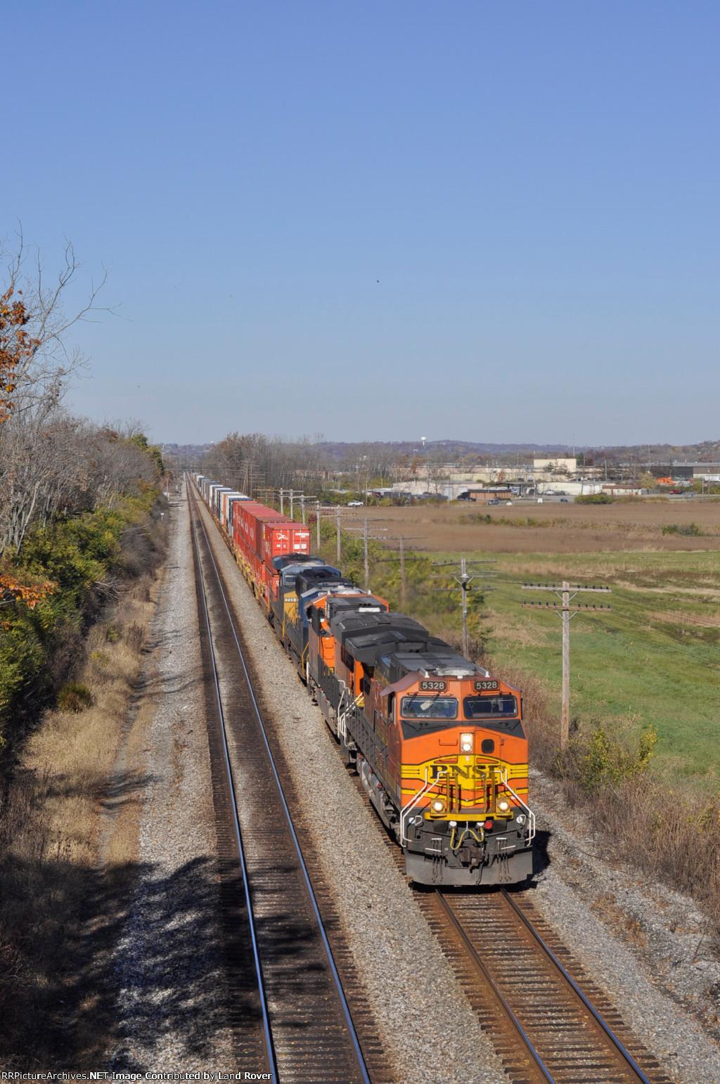 BNSF 5328 On CSX Q 133 Southbound