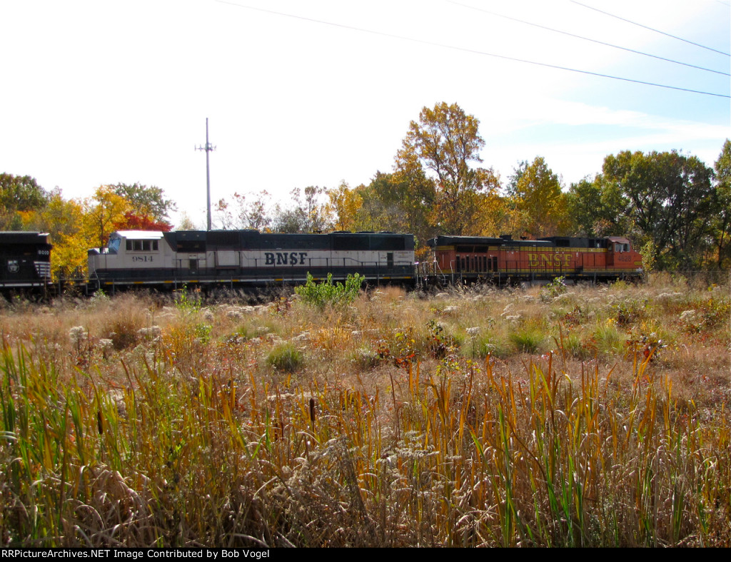 BNSF 9814 and 4628