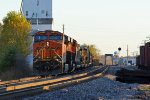 BNSF 6822 Sits tied down on the siding..