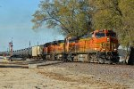 BNSF 4076 Rolls a SB through the small town of Calrksville Mo.