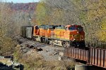 BNSF 5714 Rounds the bend on the K line with a coal load.