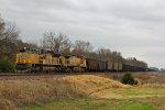 UP 8614 Leads a empty coal train.