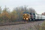 UP 6799 Leads a potash train SB.