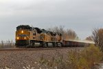 UP 8637 Head sup a loaded Frac Sand train!!