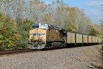 UP 5740 Dpu on a Nb empty coal train.