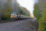 UP 5937 Heads up a sb coal load.