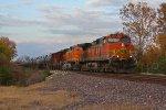 BNSF 4955 Rolls a loaded Oil Sb.