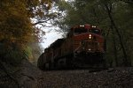 BNSF 5689 Leads a loaded coal drag.