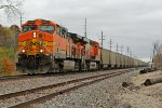 BNSF 5620 leads a loaded coal drag into Old Monroe Mo.