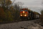 BNSF 4692 Leads a rerouted freight NB.