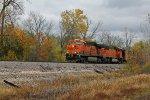 BNSF 6066 Heads up a empty coal train.
