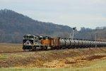 NS 1070 Runs along the Hannibal Sub at good speed.