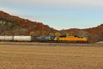 UP 4644 Heads up a freight with a csx 2nd out.