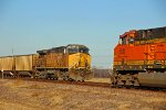 BNSF 5631 Dpu meets the Dpu on a empty UP coal train.