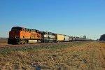 BNSF 6142 Leads a empty Ethanol train.