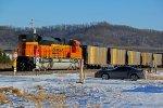 BNSF 8794 New Ace! working Dpu on a SB loaded coal drag.