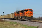 BNSF 9250 Heads a Sb coal drag..
