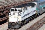 Metrolink F59PH SCAX #862 pushes Metrolink train #687 toward Los Angeles.