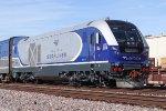 Caltrans Charger CDTX #2114 leads Amtrak train #572 towards San Diego.