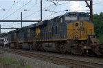 CSX ES44AH 3013 trails on Q032-07