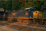 CSX ES44AH 3057 trails on Q034-19